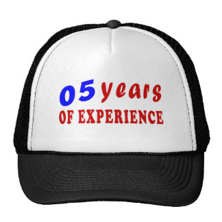 05 years of experience trucker hat