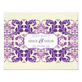 064 Enna :: RSVP REPLY SLIP - savvy 11 Cm X 14 Cm Invitation Card