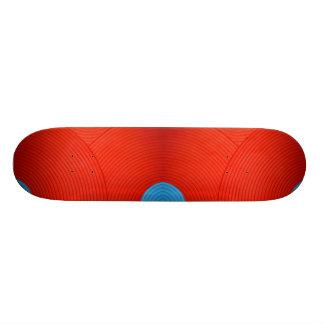06 Blue & Red Skateboard