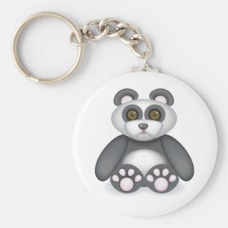 06 Panda Basic Round Button Key Ring