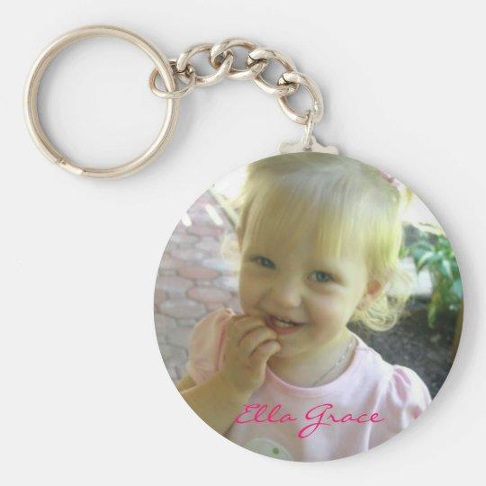 077-1, Ella Grace Basic Round Button Key Ring