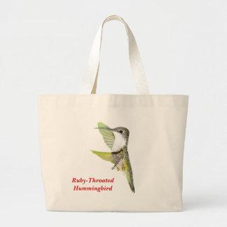 07-20-06 Hummingbirds0033ac, Ruby-Throated Humm... Large Tote Bag