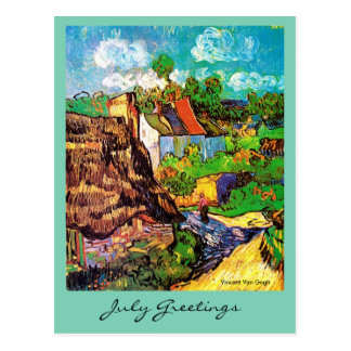 07 July greeting with art and poetry Postcard