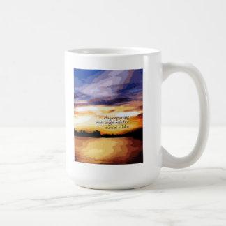 07 Mug - Original Art & Haiku - day departing