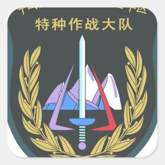 07's series China PLA Xinjiang Military Region Spe Square Sticker