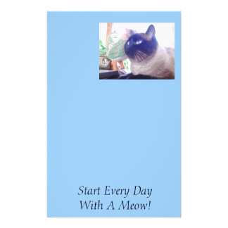 089, Start Every Day With A Meow!, Start Every ... Personalized Stationery