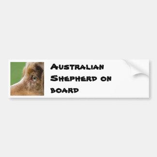 08-04-12-114, Australian Shepherd on board Bumper Sticker