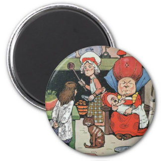 08 - Alice in Kitchen 6 Cm Round Magnet