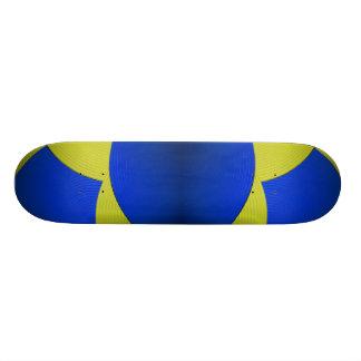 08 Yellow & Blue Skateboard Skate Deck