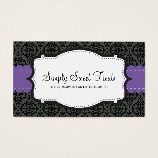 090 Christa :: BUSINESS CARD :: funky damask 10L