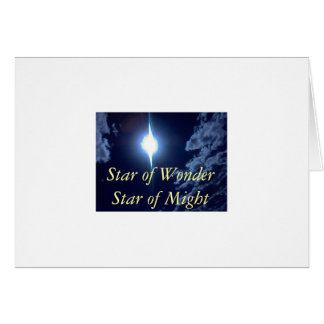 0925081441, Star of Wonder Star of Might Greeting Card