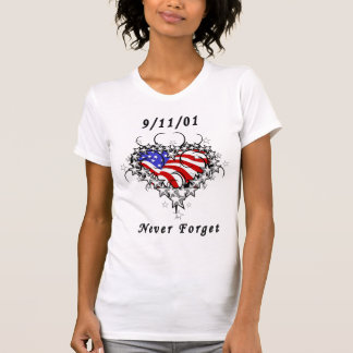 09/11/01 Never Forget Patriotic T-Shirt
