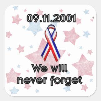 09.11.2001 SQUARE STICKER