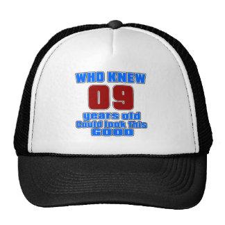 09 birthday designs cap