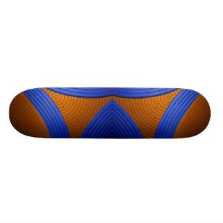 09 Blue & Orange Skateboard Skateboards
