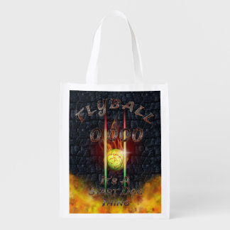 0.000 Flyball Flamz: It's A Start Dog Thing! Reusable Grocery Bag