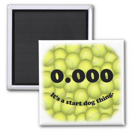 0.000, perfect Flyball start! Refrigerator Magnet