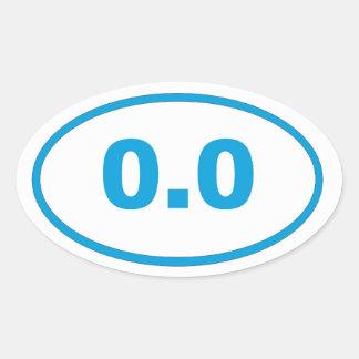 0.0 blue cyan oval sticker