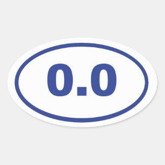 0.0 blue oval oval sticker