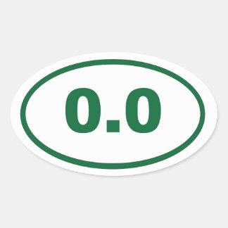 0.0 green oval sticker