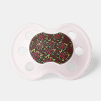 0-6 months BooginHead®baby Pacifier retro red rose