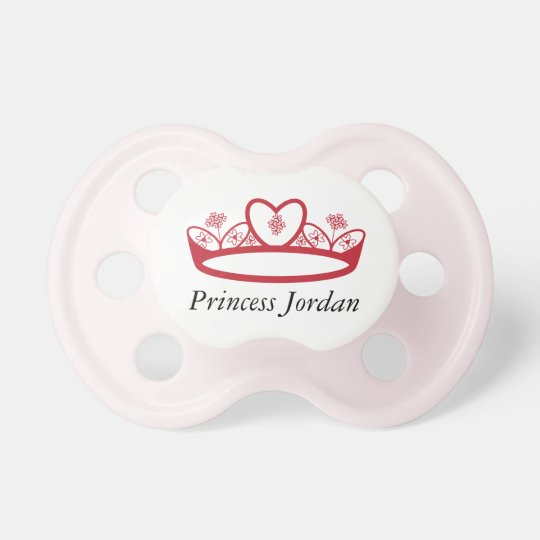 0-6 months Cute Personalised Little Girl Princess Dummy