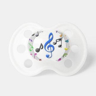 0-6 months Pacifier Music Symbols
