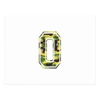 0 Green Yellow Camo Post Card
