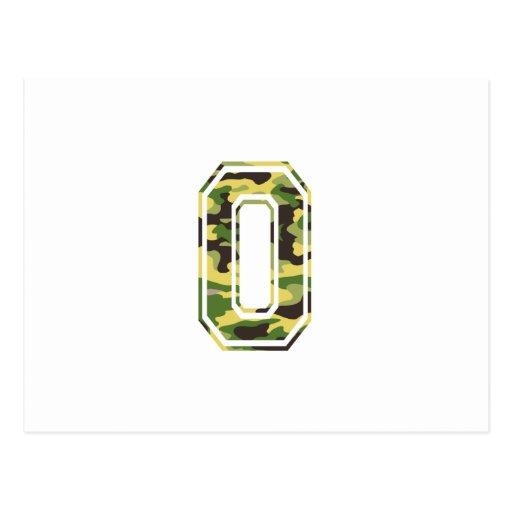 #0 Green & Yellow Camo Post Card