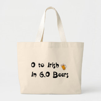 0 to Irish in 6.0 Beers Tote Bags