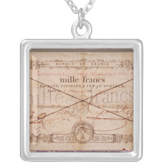 1000 Francs banknote from 8 Floreal, An X Silver Plated Necklace