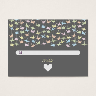 1000 Hanging Origami Paper Cranes Wedding (Grey) Business Card