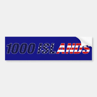 1000 Islands USA Bumper Sticker