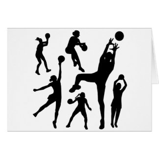 10097-netball-silhouette-vector SPORTS NET BALL PE Card