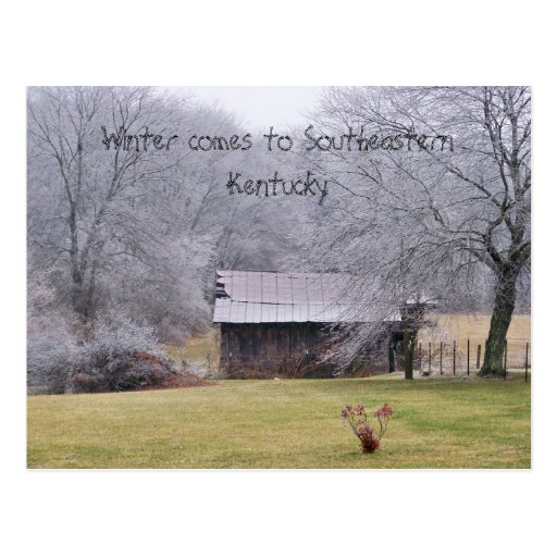 100_0279, Winter comes to Southeastern Kentucky Post Cards