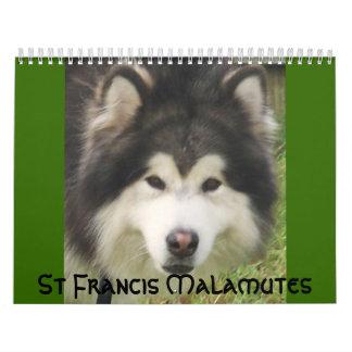 100_2382, St Francis Malamutes Wall Calendar