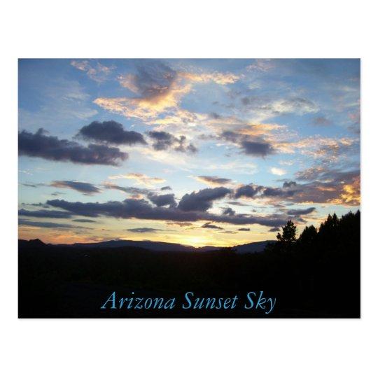 100_5037, Arizona Sunset Sky Postcard