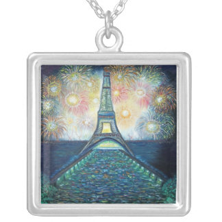 100_6731 Fireworks on Sterling Silver Silver Plated Necklace