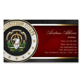 [100] Acquisition Corps (AAC) Branch Insignia [3D] Magnetic Business Cards