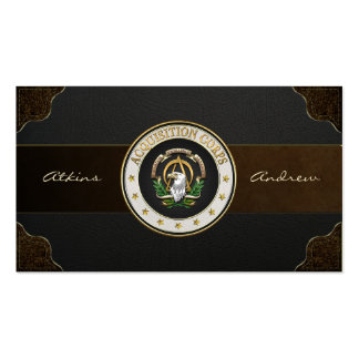 [100] Acquisition Corps (AAC) Branch Insignia [3D] Pack Of Standard Business Cards