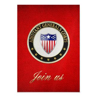 [100] Adjutant General's Corps Branch Insignia [3D 13 Cm X 18 Cm Invitation Card