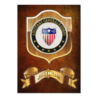 [100] Adjutant General's Corps Branch Insignia [3D 13 Cm X 18 Cm Invitation Card
