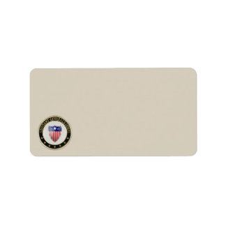 [100] Adjutant General's Corps Branch Insignia [3D Address Label
