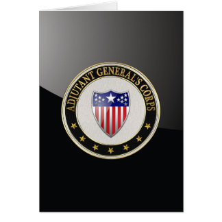 [100] Adjutant General's Corps Branch Insignia [3D Greeting Card