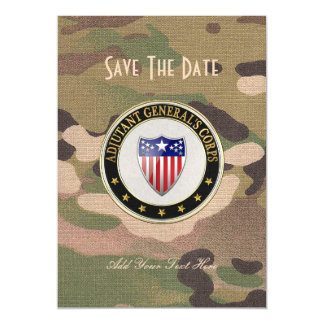[100] Adjutant General's Corps Branch Insignia [3D Magnetic Invitations