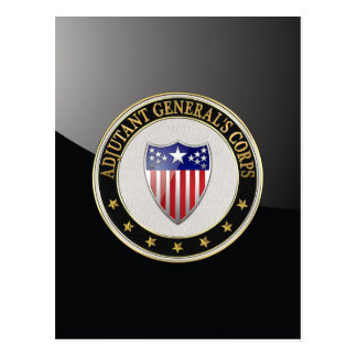 [100] Adjutant General's Corps Branch Insignia [3D Postcard