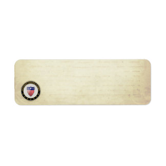 [100] Adjutant General's Corps Branch Insignia [3D Return Address Label