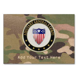[100] Adjutant General's Corps Branch Insignia [3D Table Cards