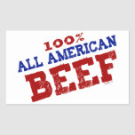 100% All Ameican Beef Stickers
