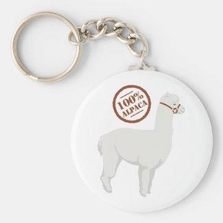 100% Alpaca Key Ring